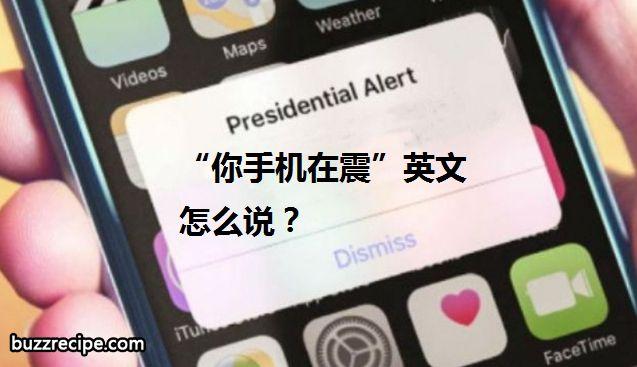"""""""你手机在震""""英文怎么说?"""